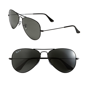 4-Ray-Ban 'Polarized Original Aviator' 58mm Sunglasses