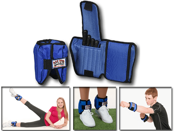 Ankle Wrights-All Pro-All Pro 10 lb. Adjustable Ankle Weights-Pair
