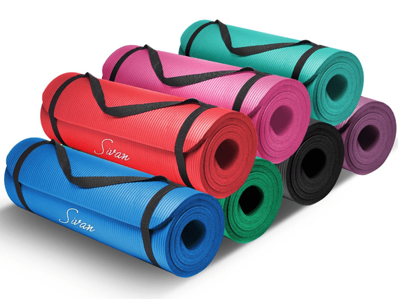 Yoga Mat-Sivan Health and Fitness-half-InchExtra Thick 71-Inch Long NBR Comfort Foam Yoga Mat for Exercise Yoga and Pilates