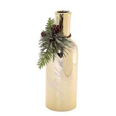 decorative-metallic-bottles-with-pinecone-trim-melrose-gifts
