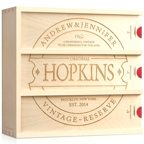 Woodworks-Family Vintage-Anniversary Wine Box