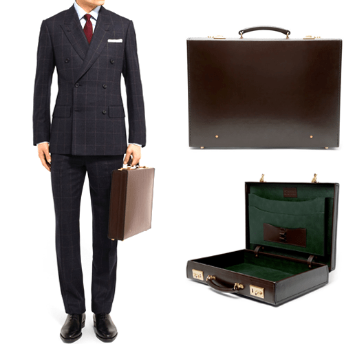 Kingsman Swaine Adeney Brigg Leather Briefcase 2