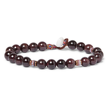 Summer Clothes: Mikia Garnet Beaded Bracelet