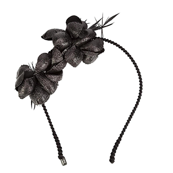 GIGI BURRIS MILLINERY	Black 'Alchemia' Head Band