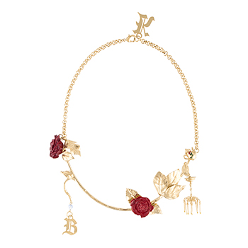 CHRISTOPHER KANE Gold Chandelier Necklace