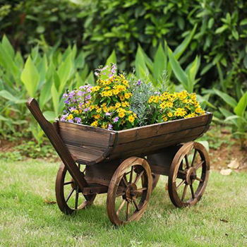 Wagon Flowers Planter by Best Choice Products