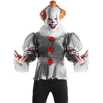 Rubies Costume Company-Adult Gray Pennywise Costume