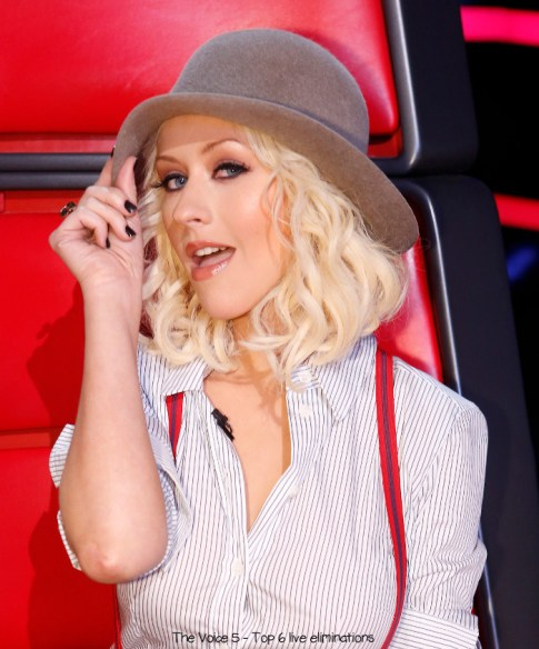 "THE VOICE -- ""Live Show"" Episode 517B -- Pictured: Christina Aguilera -- (Photo by: Trae Patton/NBC)"