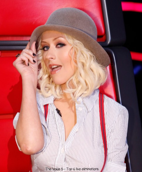 "THE VOICE -- ""Live Show"" Episode 517B -- Pictured: Christina Aguilera -- (Photo by: Trae Patton/NBC)"