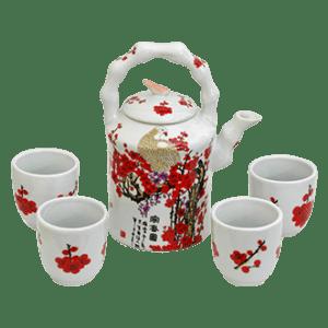 Hayneedle Cherry Blossom Porcelain Tea Set