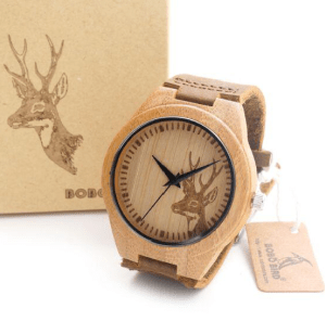 Mastho Quartz Bamboo Watch