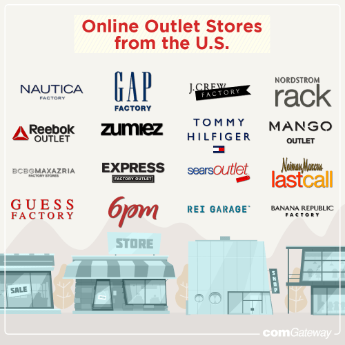 List of online outlet stores from the U.S.
