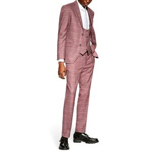 Pink Windowpane Suit from Topman