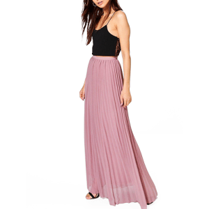 Chiffon Pleated Maxi Skirt from Boohoo