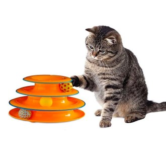 Cat supplies - Petstages Tower of Tracks Cat Toy
