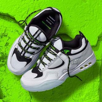 Monkey Time x DC Kalis OG Shoes white pair