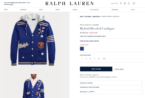Ralph Lauren blue sweater