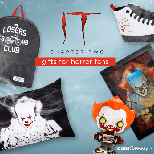 IT Chapter 2 blog cover featuring merch