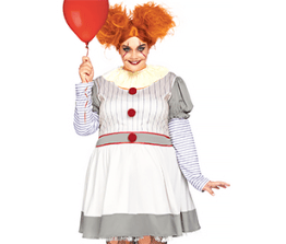 Ladies' Costume- Creepy Clown (plus-size)