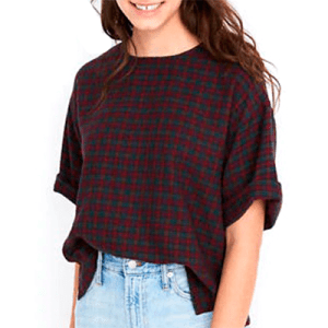 Madewell Boxy Tee in Plaid