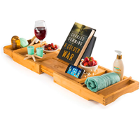 Belmint Bambusi Bamboo Bathtub Caddy