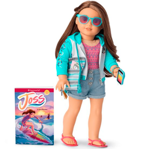 American Girl Joss Doll, Book & Accessories