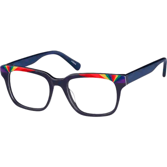 Zenni Multicolor Square Glasses