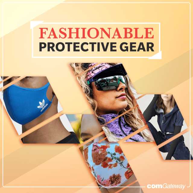 Fashionable PPEs - Face masks, sunglasses shields, and jackets