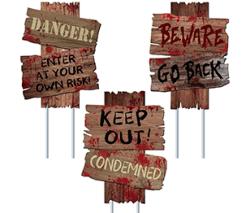 Gaboss Halloween Decorations Beware Signs