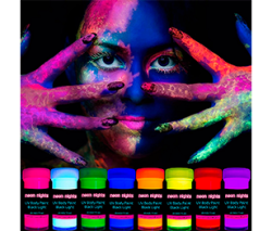 Neon Nights UV Body Paint Set