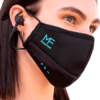 Maskfone Face Mask w/ Built in Earbuds