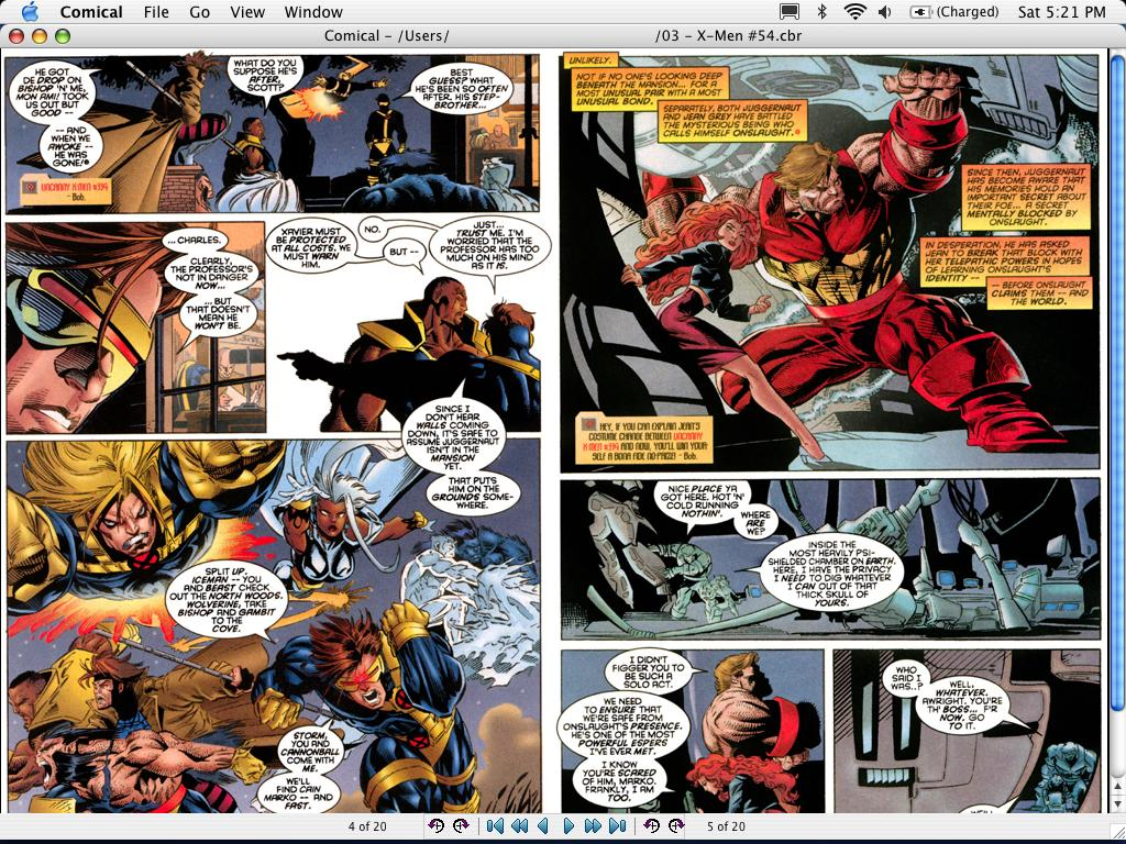 Comical, a great free CBR and CBZ comics reader for OS X