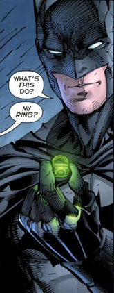 Batman Gets Green Lantern Ring