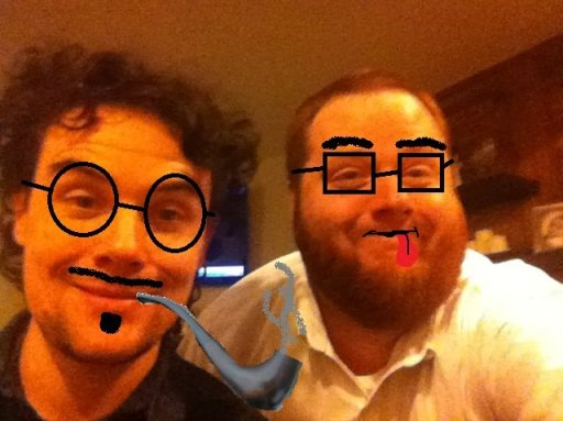 Hal and Myself being classy...