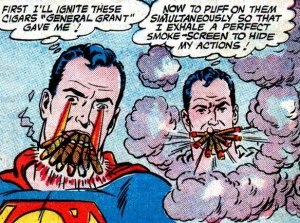 Superman Smoking Cigars