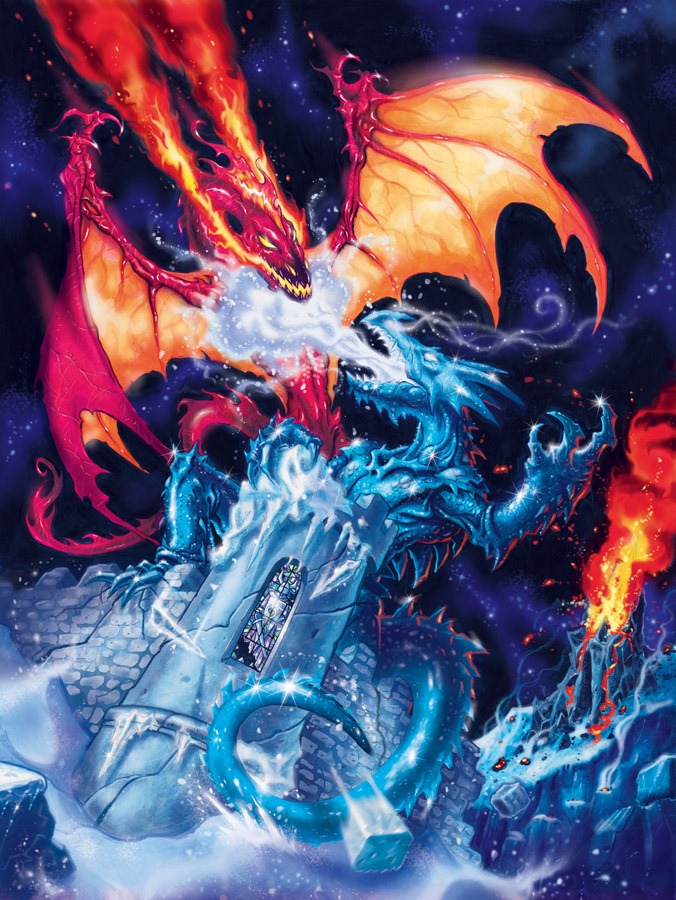 Fire Dragons Ice Vs Backgrounds
