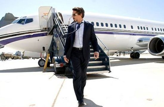 Tony Stark walks the walk in Iron Man 3. Uh huh, I got a lot of money, honey.