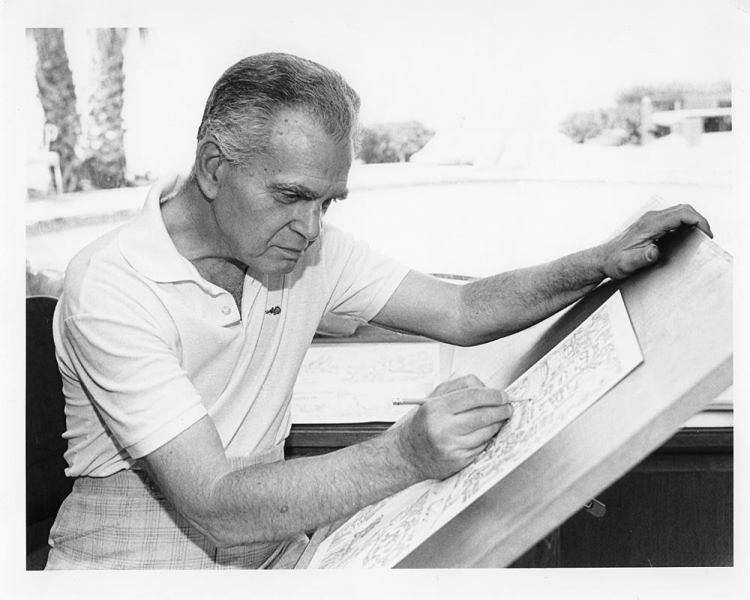 Jack Kirby at work