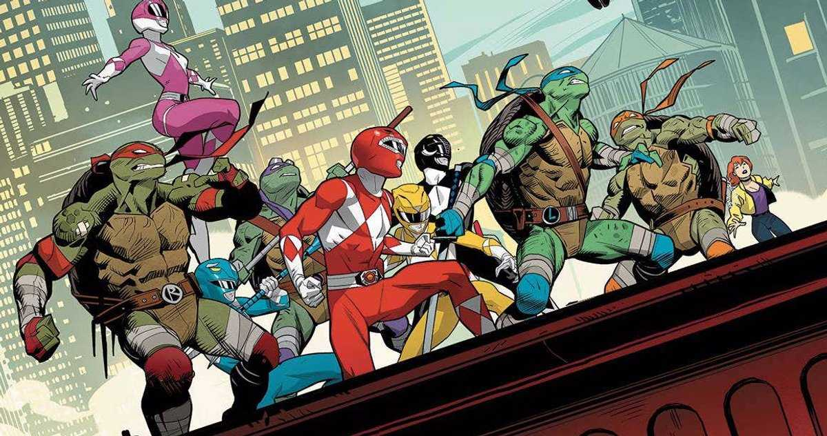 Pictures Released From The Fourth Issue Of Mighty Morphin Power Ranger/Teenage Mutant Ninja Turtles