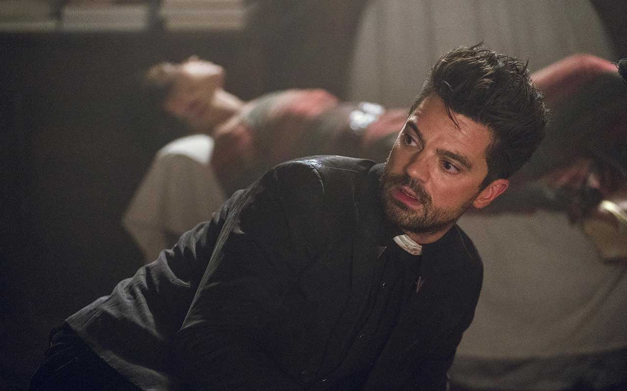 Dominic Cooper as Jesse Custer, Ruth Negga as Tulip O'Hare - Preacher _ Season 3, Episode 1 - Photo Credit: Alfonso Bresciani/AMC/Sony Pictures Television