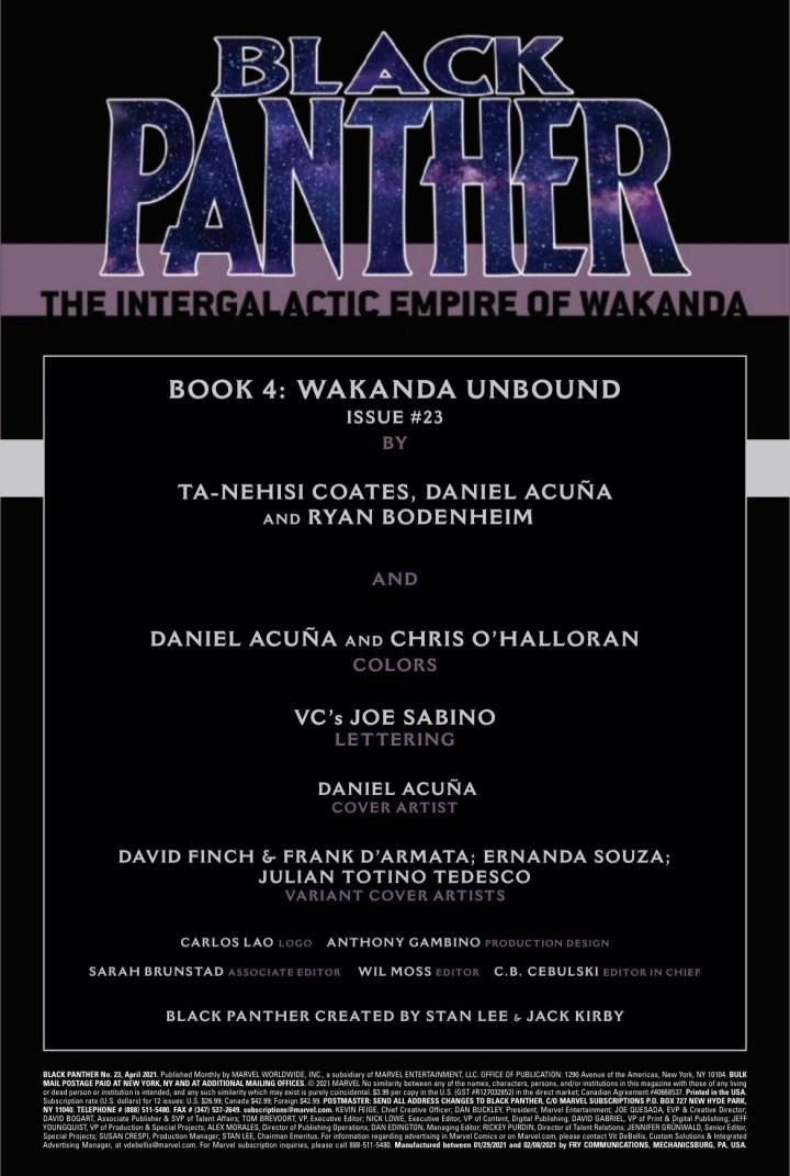 Black Panther page 1
