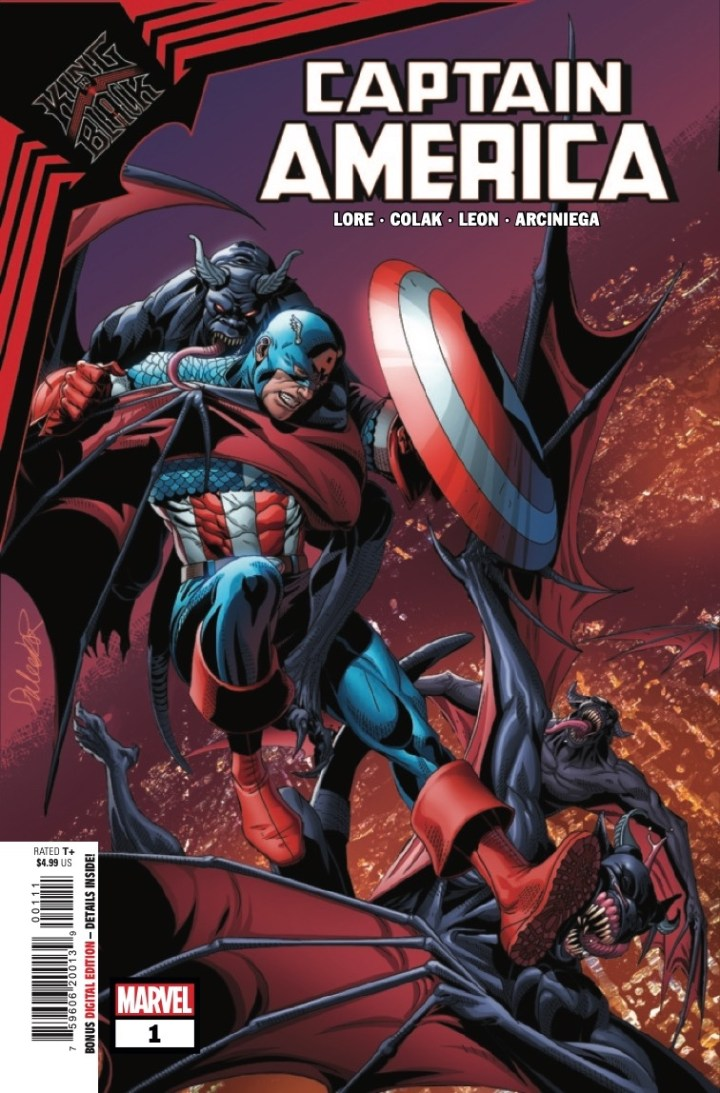King in Black: Captain America #1 Cover 1