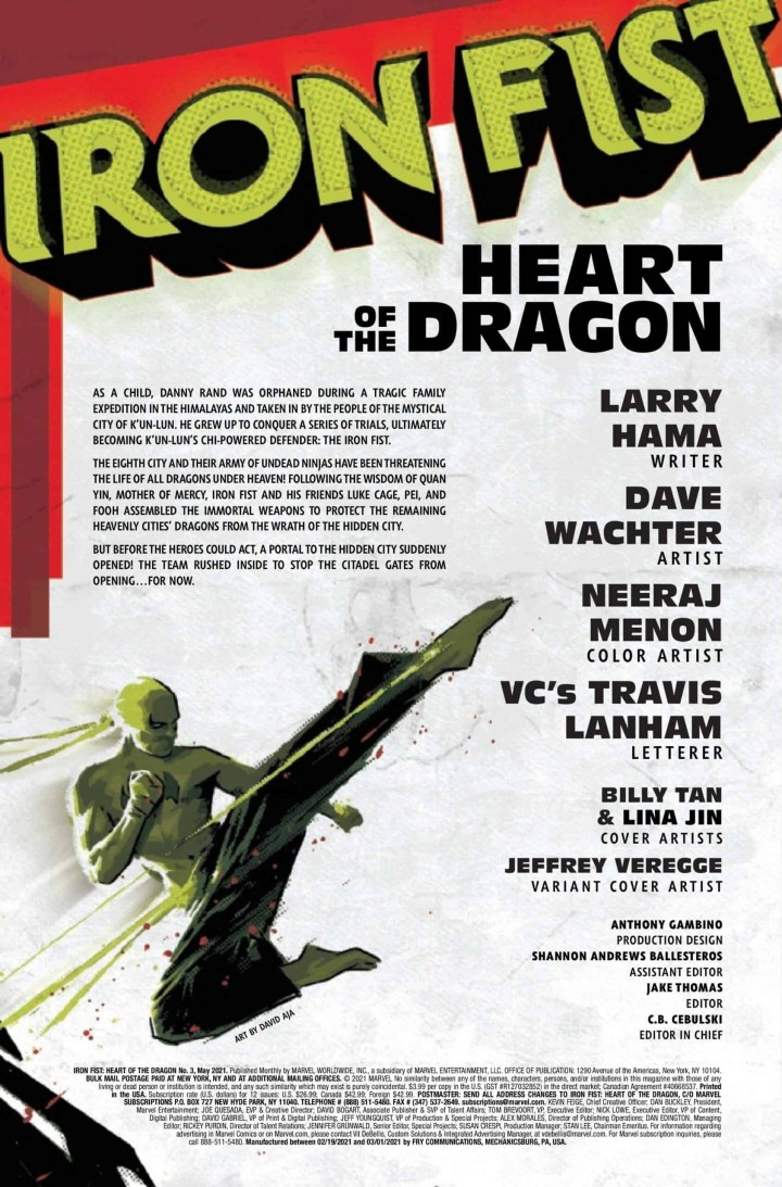Iron Fist: Heart of the Dragon #3 p1