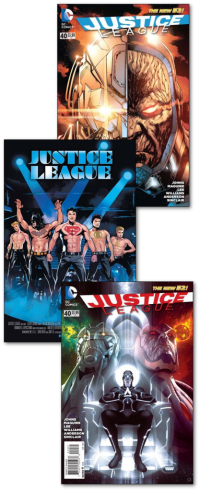 Justice League #40 reg, movie var and 1:25