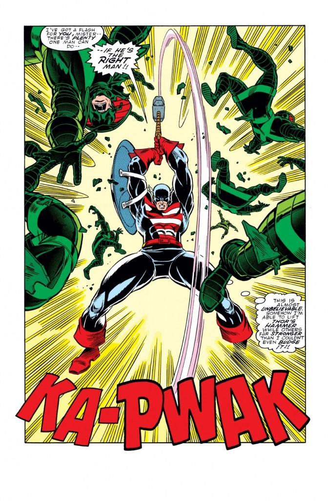 Cap picks up the hammer!!!