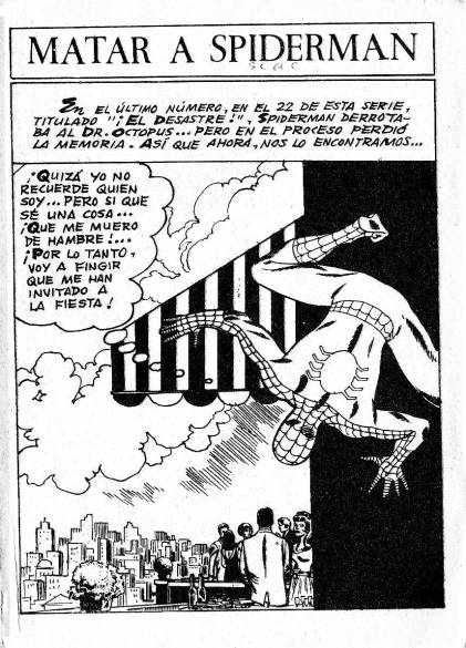 Spiderman v1 #23 - 1st Page