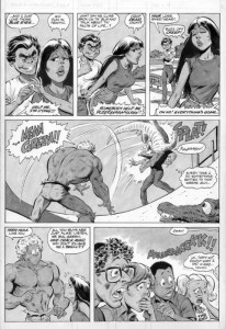 Page from Teen Hulk