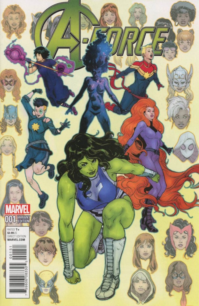 A-Force #1 Victor Ibanez Variant Cover
