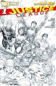 Justice League #1 New 52 RRP Sketch Variant