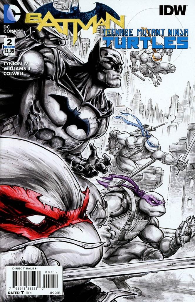 Batman / TMNT #2 2nd Printing